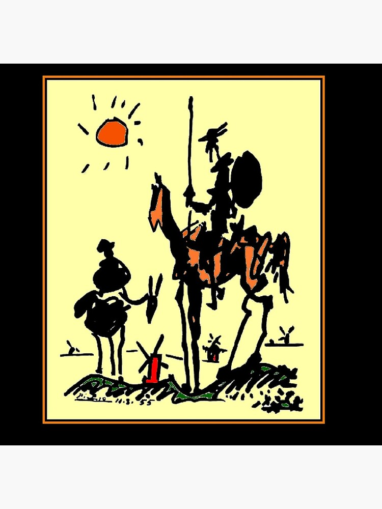 DON QUIXOTE : Vintage 1955 Picasso Painting Print by posterbobs
