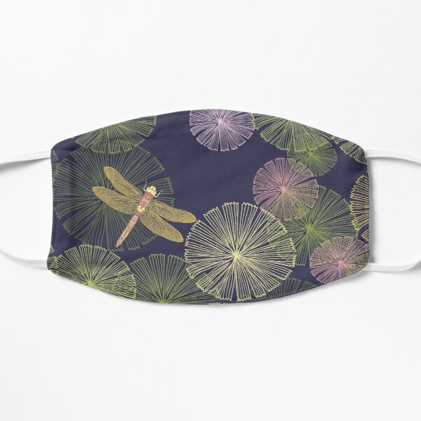 Dragonfly in a Glowing Magic Forest Flat Mask