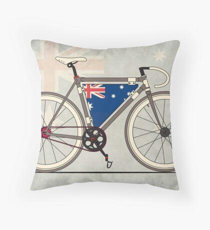 I love My Bike and Australia Throw Pillow