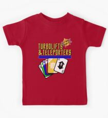 Turbolifts and Teleporters Kids Tee