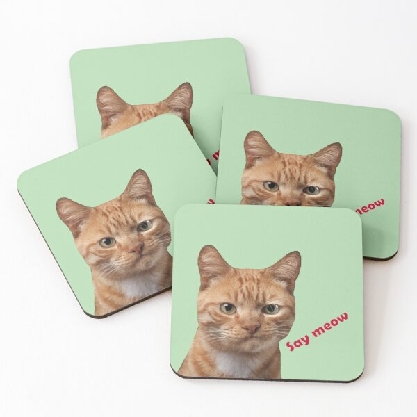 Ginger cat Coasters (Set of 4)