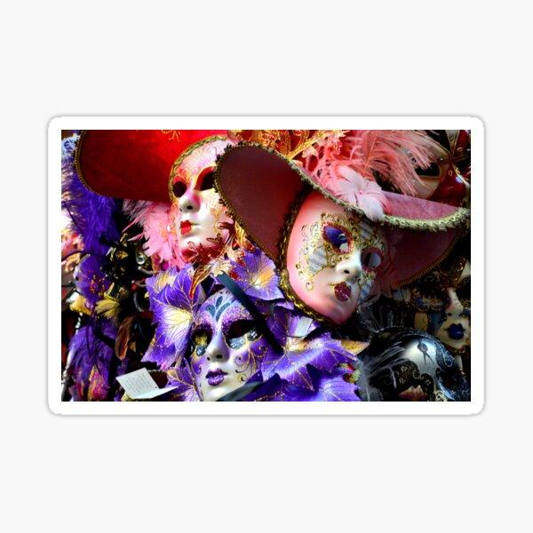 Maschere di Venezia-maschera di carnevale di Venezia Sticker