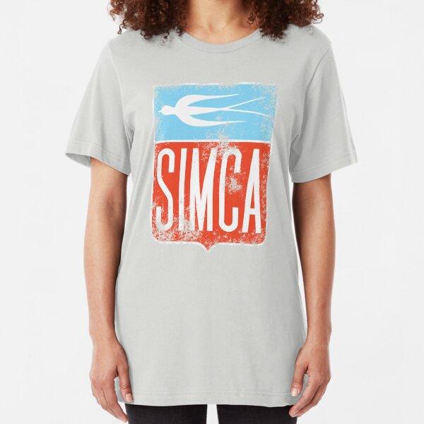 Vintage Simca old bird emblem Slim Fit T-Shirt