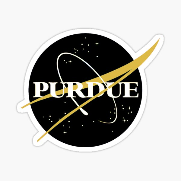Purdue NASA logo Black & Gold Sticker