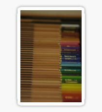 Coloured Crayons DoF Sticker
