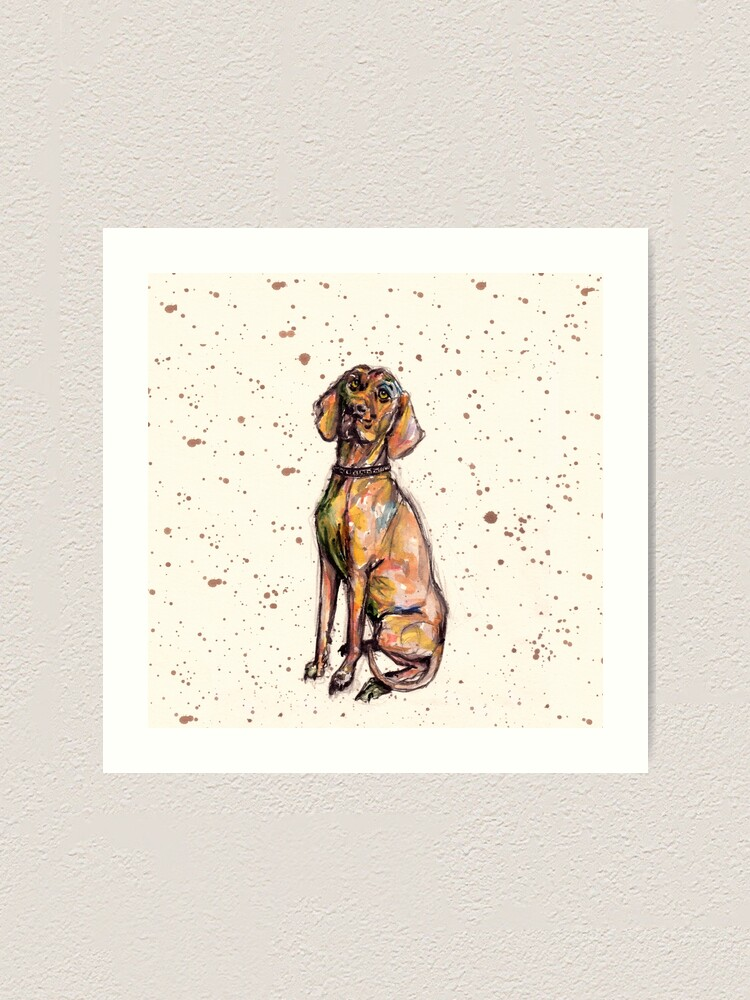 Alternate view of Hungarian Vizsla Dog Art Print