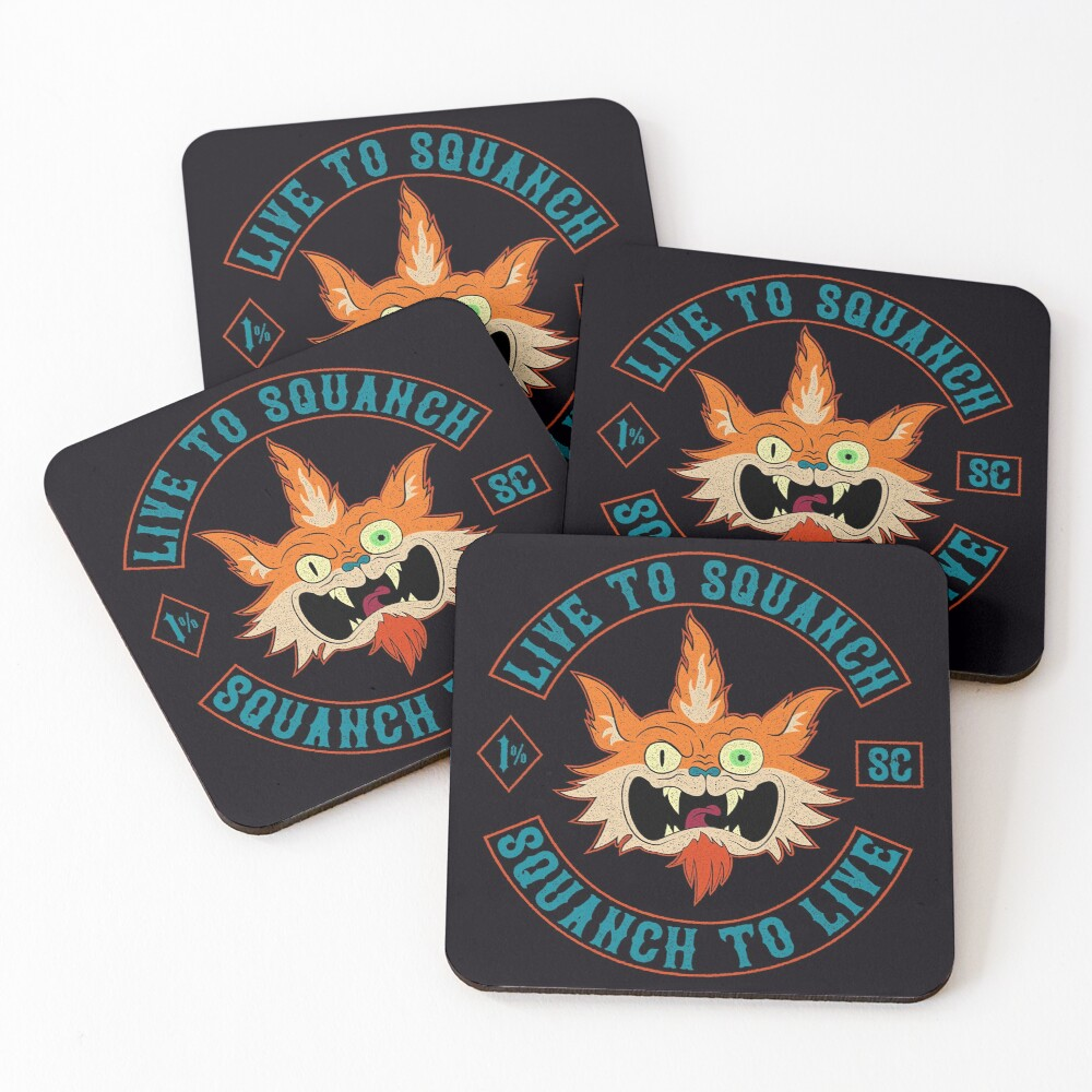 Squanch Club Coasters (Set of 4)