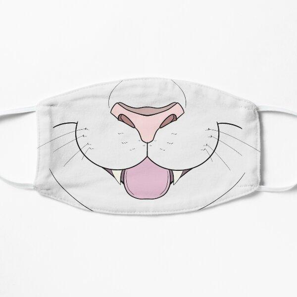 White Cat Face Mask Flat Mask