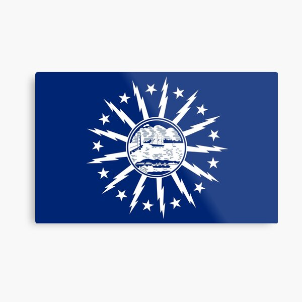 buffalo city flag Metal Print