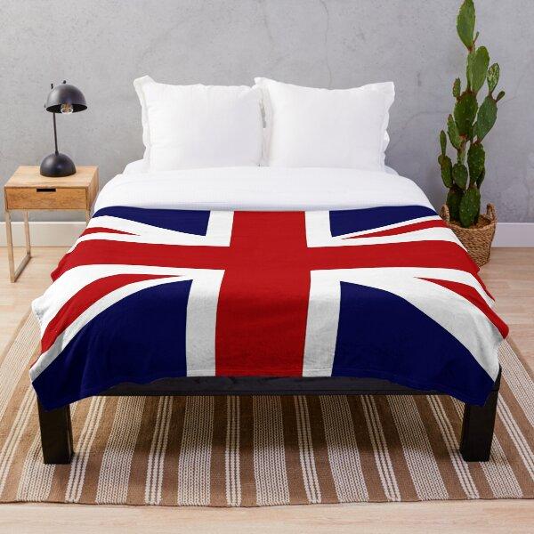 Union Jack Flag of the UK Throw Blanket
