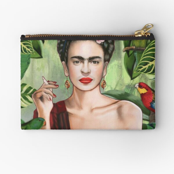 Frida Khalo Flowers t-Shirt artist painter Zipper Pouch