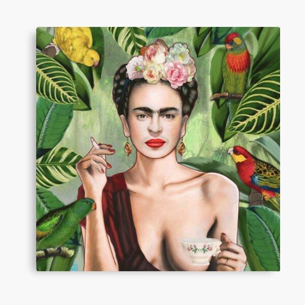 Frida Khalo Blumen T-Shirt Künstler Maler Leinwanddruck