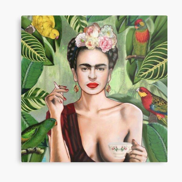 Frida Khalo Flowers t-Shirt artiste peintre Impression métallique