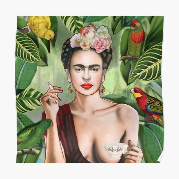 Frida Khalo Flowers t-Shirt artist painter Poster