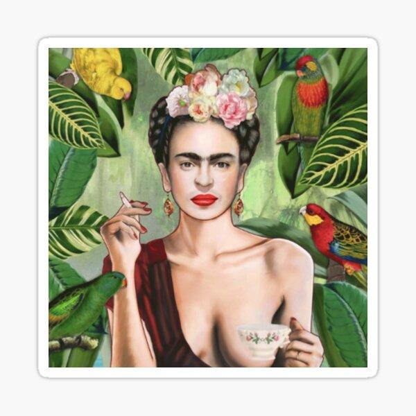 Frida Khalo Flowers t-Shirt artist painter Sticker