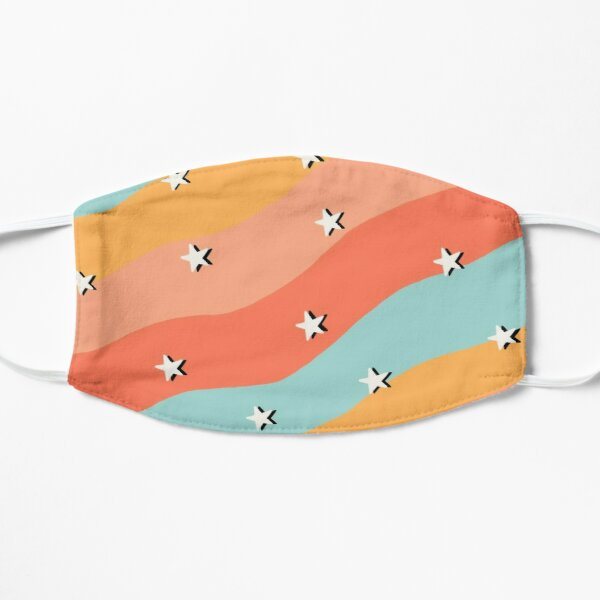 Colorful Stars summer Face Mask Flat Mask