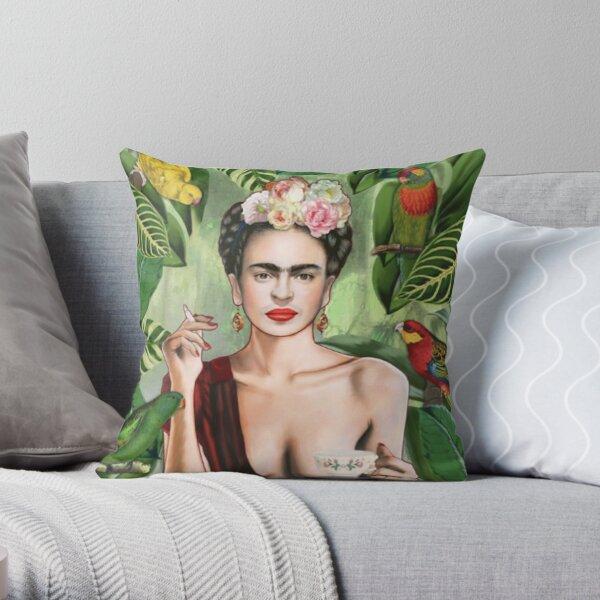Frida Khalo Flowers t-Shirt artiste peintre Coussin