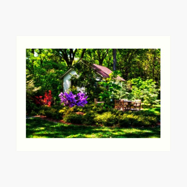 Beside the Potting Shed Art Print