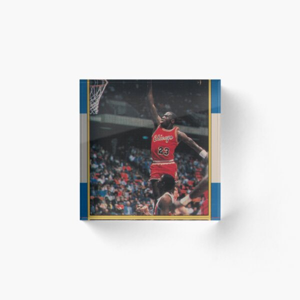 Michael Jordan - Fleer Trading Rookie Card - The Last Dance Edition Acrylic Block