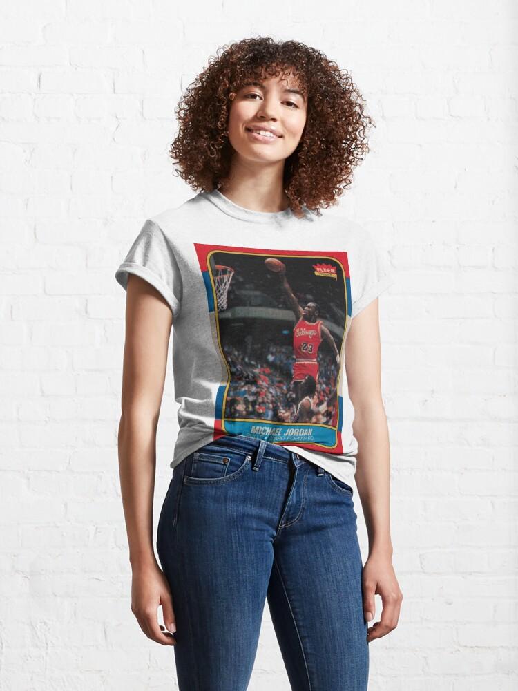 Alternate view of Michael Jordan - Fleer Trading Rookie Card - The Last Dance Edition Classic T-Shirt