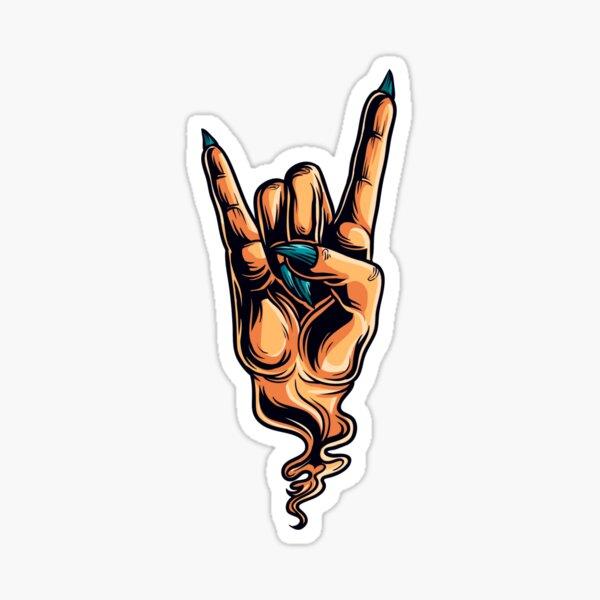 The Devils Horns hand gesture Sticker