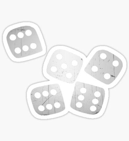 dice tee Sticker