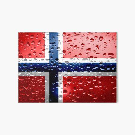 Flag of Norway - Raindrops Art Board Print