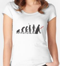 Human evolution Star wars Women's Fitted Scoop T-Shirt