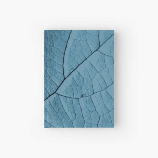 Blue Leaf Hardcover Journal