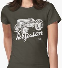 Classic Ferguson TE20 script and illustration Women's Fitted T-Shirt
