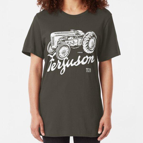 Classic Ferguson TE20 script and illustration Slim Fit T-Shirt