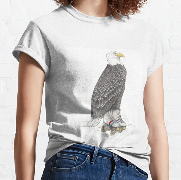 Eagle on roller skates Classic T-Shirt