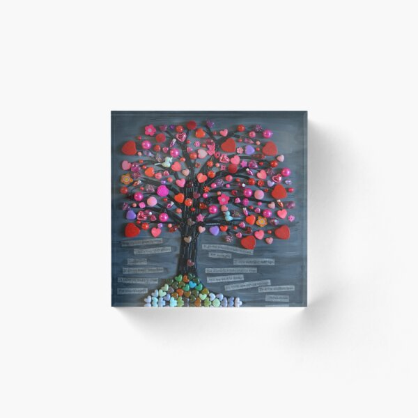 Love Tree Acrylic Block