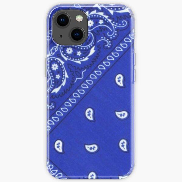 Blue bandana iPhone Soft Case