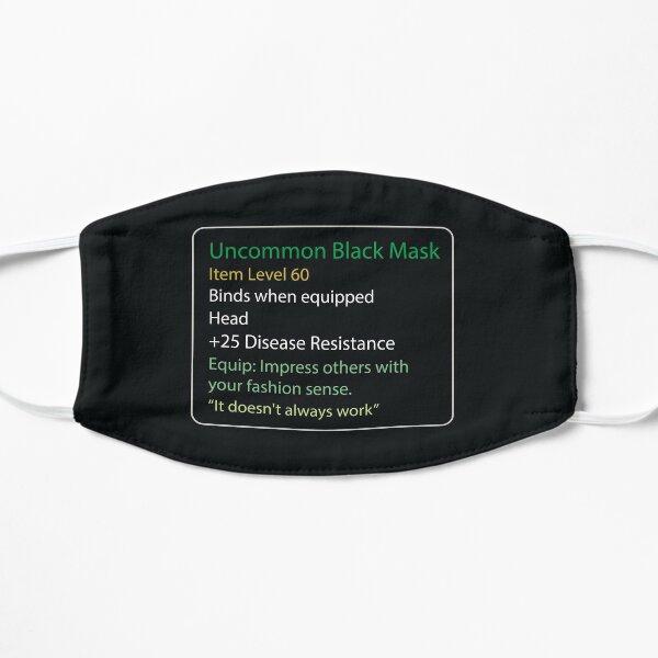 Uncommon Black Mask - Face mask - Gaming Rpg Mascarilla plana