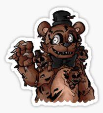 Nightmare Freddy Fazbear Drawing Stickers   Redbubble