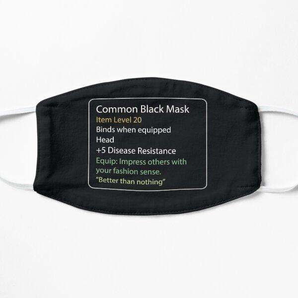 Gemeinsame schwarze Maske Maske