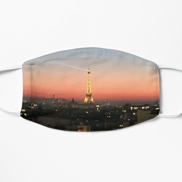Paris: Eiffel Tower Pink Sunset Mask