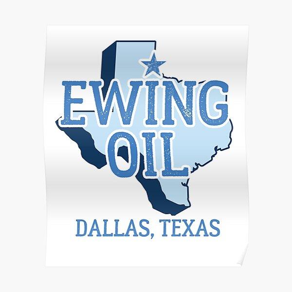 Vintage Dallas Texas Ewing Oil  Poster
