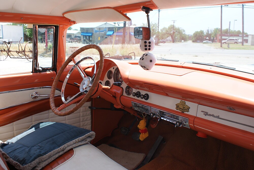Dashboard of a 1956 Ford Crown Victoria by TxGimGim