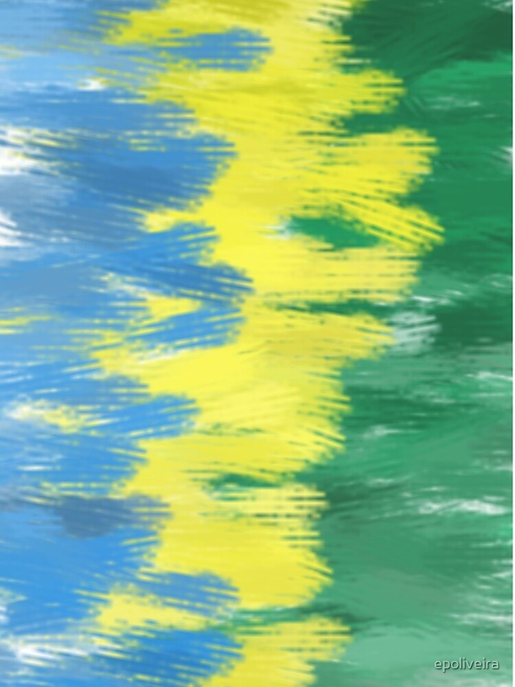 Brazil Flag Colors   Abstract Art by epoliveira