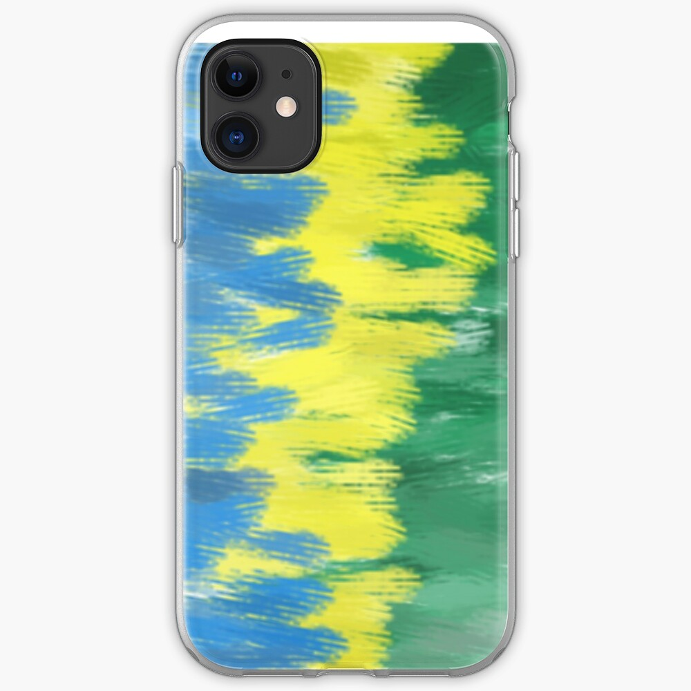 Brazil Flag Colors   Abstract Art iPhone Case & Cover