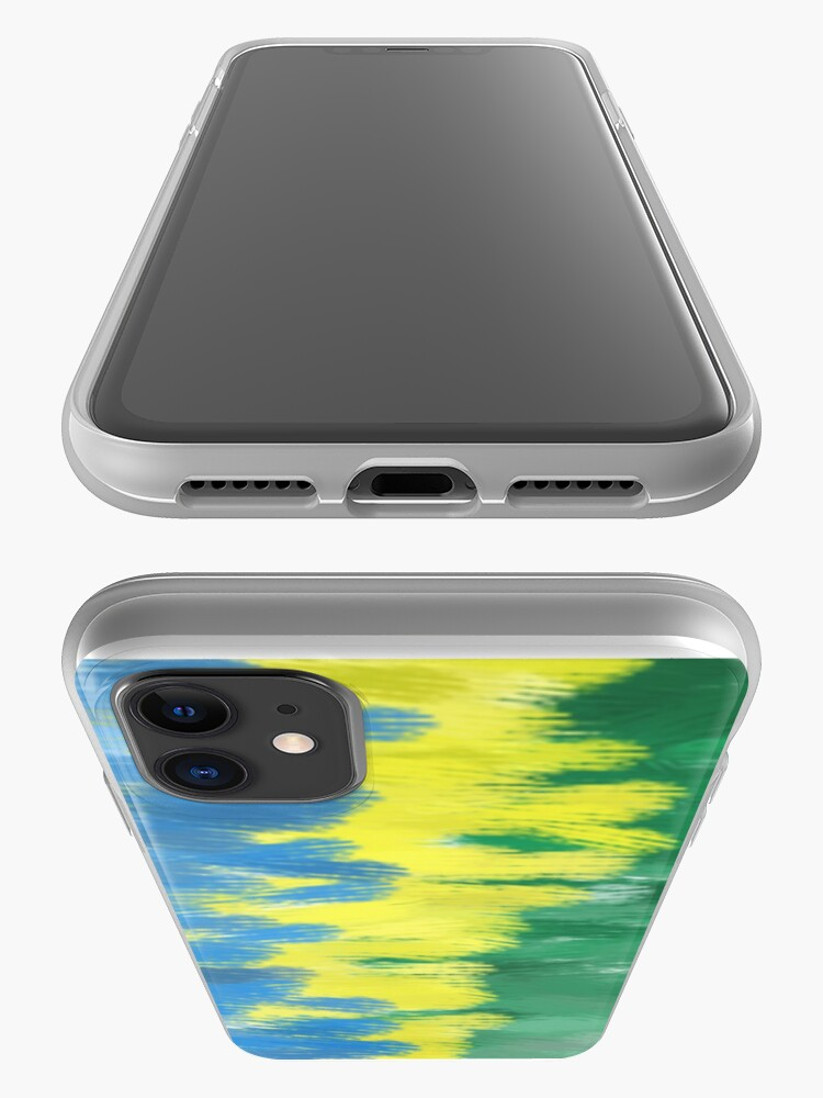 Alternate view of Brazil Flag Colors   Abstract Art iPhone Case & Cover