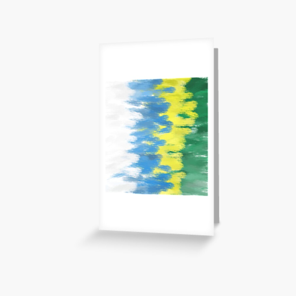 Brazil Flag Colors | Abstract Art Greeting Card