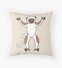 Sifaka Lemur Throw Pillow