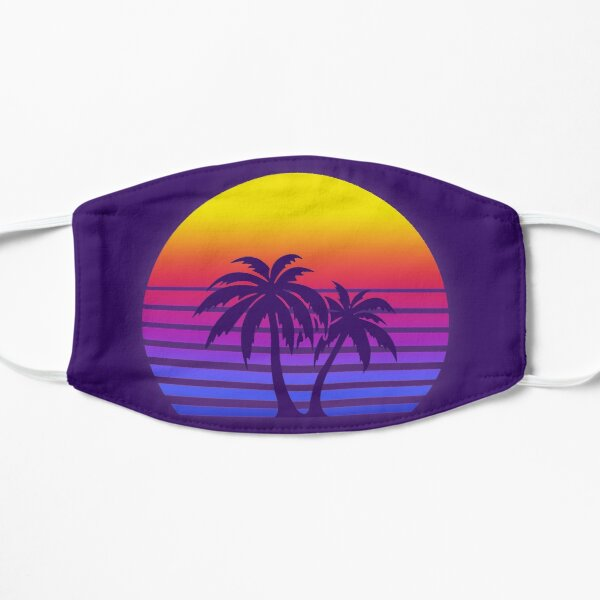 Synthwave Sun Palmiers Masque taille M/L