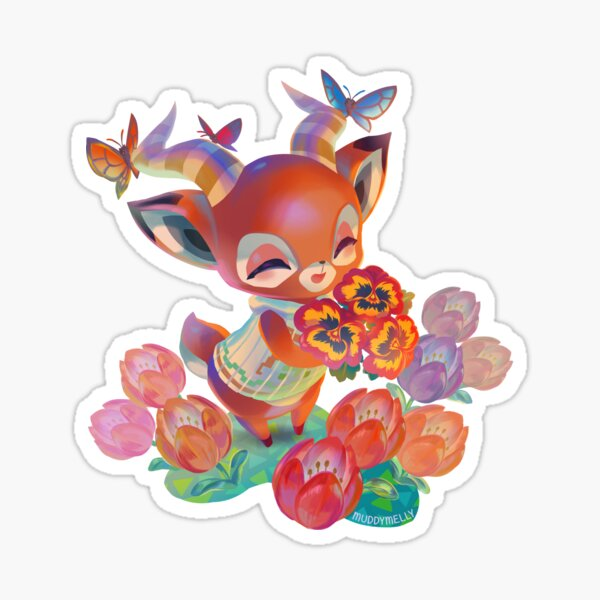 Animal Crossing Beau Bouquet Sticker
