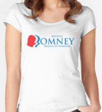 Mittens Romney Women's Fitted Scoop T-Shirt