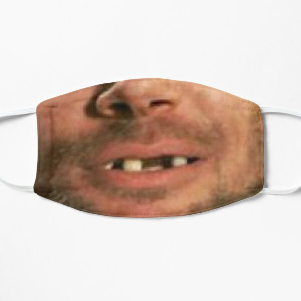 jon mouth face mask Flat Mask