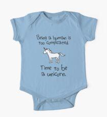 Zeit ein Einhorn zu sein Baby Body Kurzarm